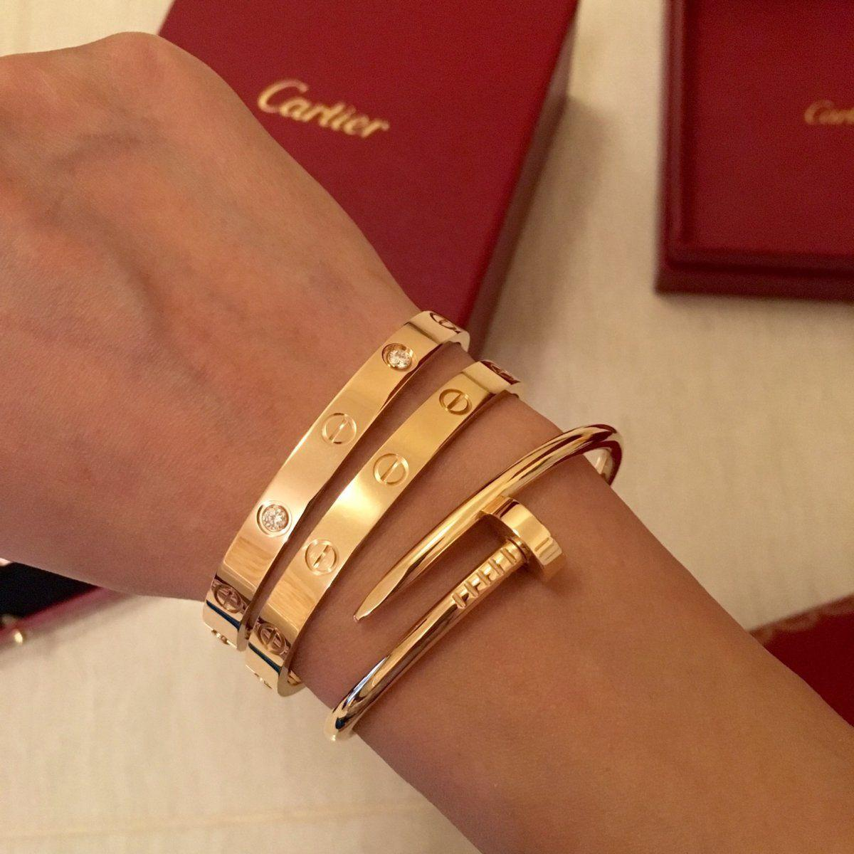 Cartier 18K Yellow Gold Love Bracelet Bangle Shop Cartier Love Bracelets cheap  13