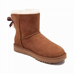 UGG Women's Shoes Mini Bailey Bow Boot Chestnut