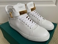 Buscemi 100MM Classic White Leather Gold