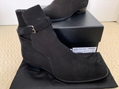 Saint Laurent Wyatt 30 Jodhpur Black Suede Chelsea Boots men women boot cheap
