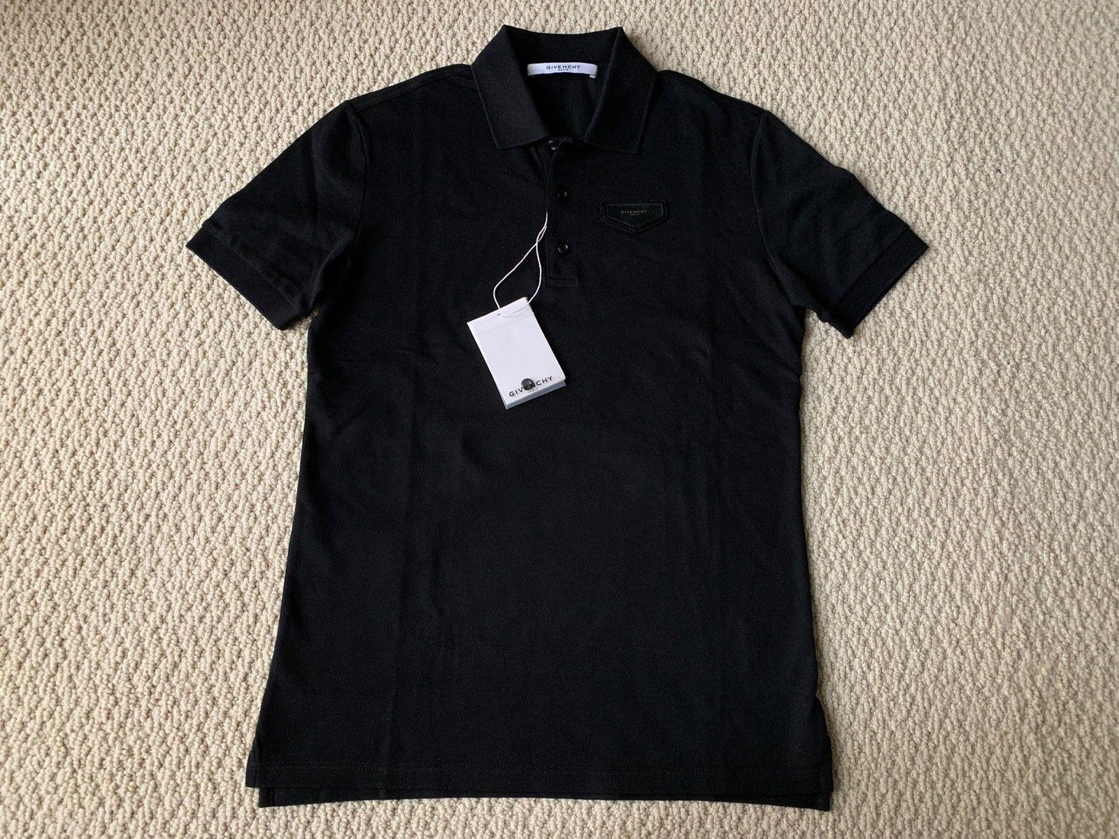 68d416bf Givenchy Black Antigona Logo Leather Patch Classic Polo Shirt short sleeve  tee ...