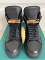 Buscemi 100MM Alta Black Leather Wedge