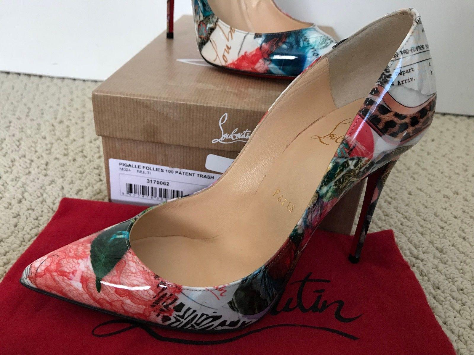 baa0f28ace2 Christian Louboutin Pigalle Follies Iconic Trash Print Pointed Pumps ...
