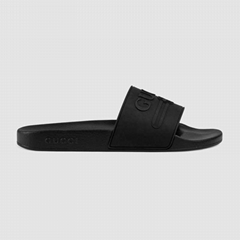 Gucci logo rubber slide sandal Women gucci shoes
