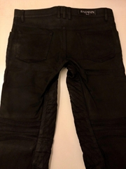 Balmain Black Biker Jeans wholesale jeans brand luxury womens mens luxury brand