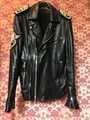 Pierre Balmain Mens X Leather Jacket