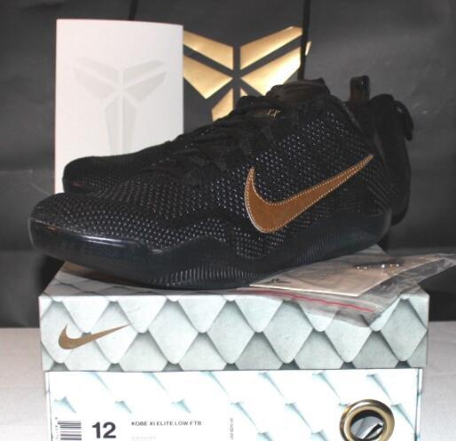 brand new 25a1f 020c6 Nike Air Kobe 11 XI Black Mamba Pack FTB Black Gold Sneakers Men s ...