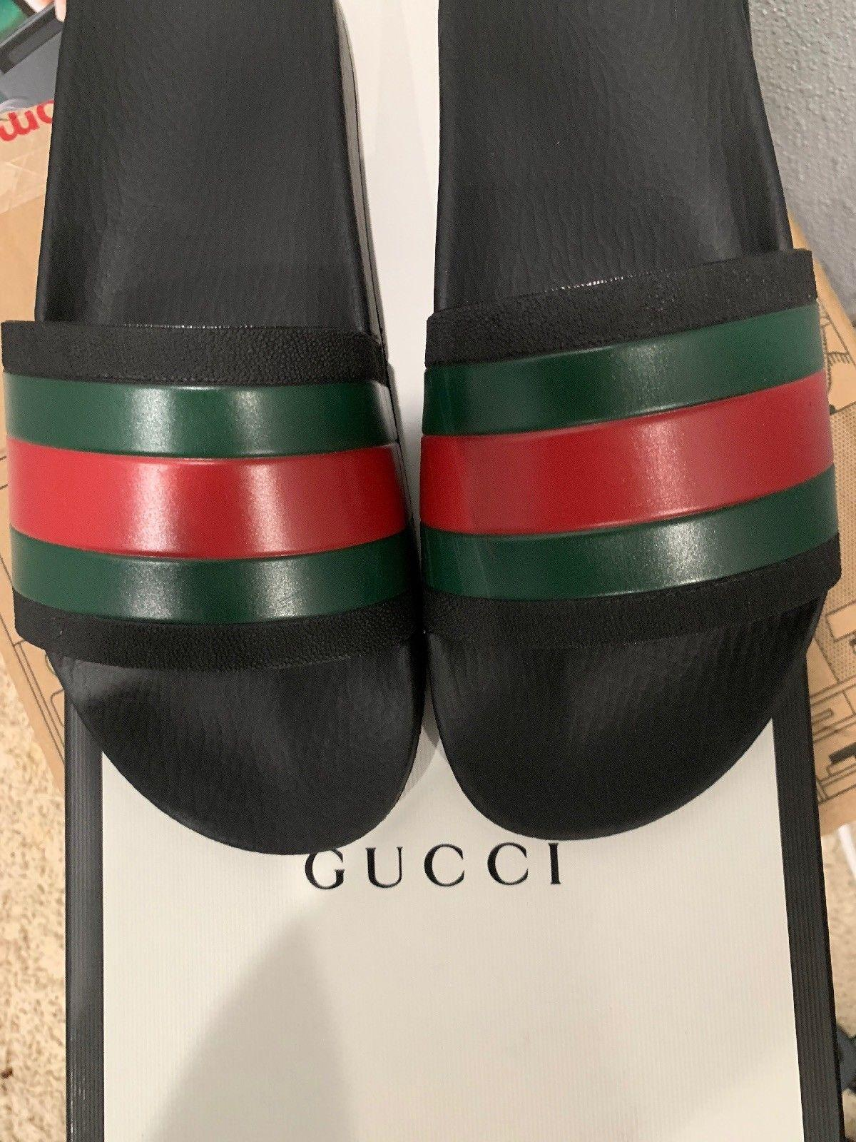 3416cfe4cb54 ... Gucci Pursuit Treck Jacquard Slide Sandals Blind For Love GG logo  slipper sandal 3 ...