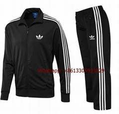 ADIDAS MENS FIREBIRD FULL TRACKSUIT TOP AND BOTTOMS BLACK/WHITE