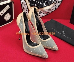Philipp Plein Water drill high heel single shoe Screen ironing drill