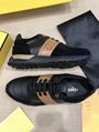 Fendi Men's Logo Leather & Suede