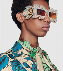 294f848e499b 2019 GUCCI Limited Edition mask sunglasses with crystals Fashion eyewear