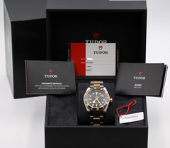 Tudor Heritage Black Bay Steel & Gold 79733N S&G Two Tone - 2018 Box & Papers