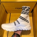 Fendi high-top sneaker boot with striped