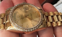Details about  ROLEX 18K Gold QUICKSET PRESIDENT 18038 Gold DIAL 3055 Movement