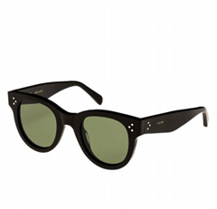 Celine Women's Black Studded Acetate Sunglasses W/ Mineral