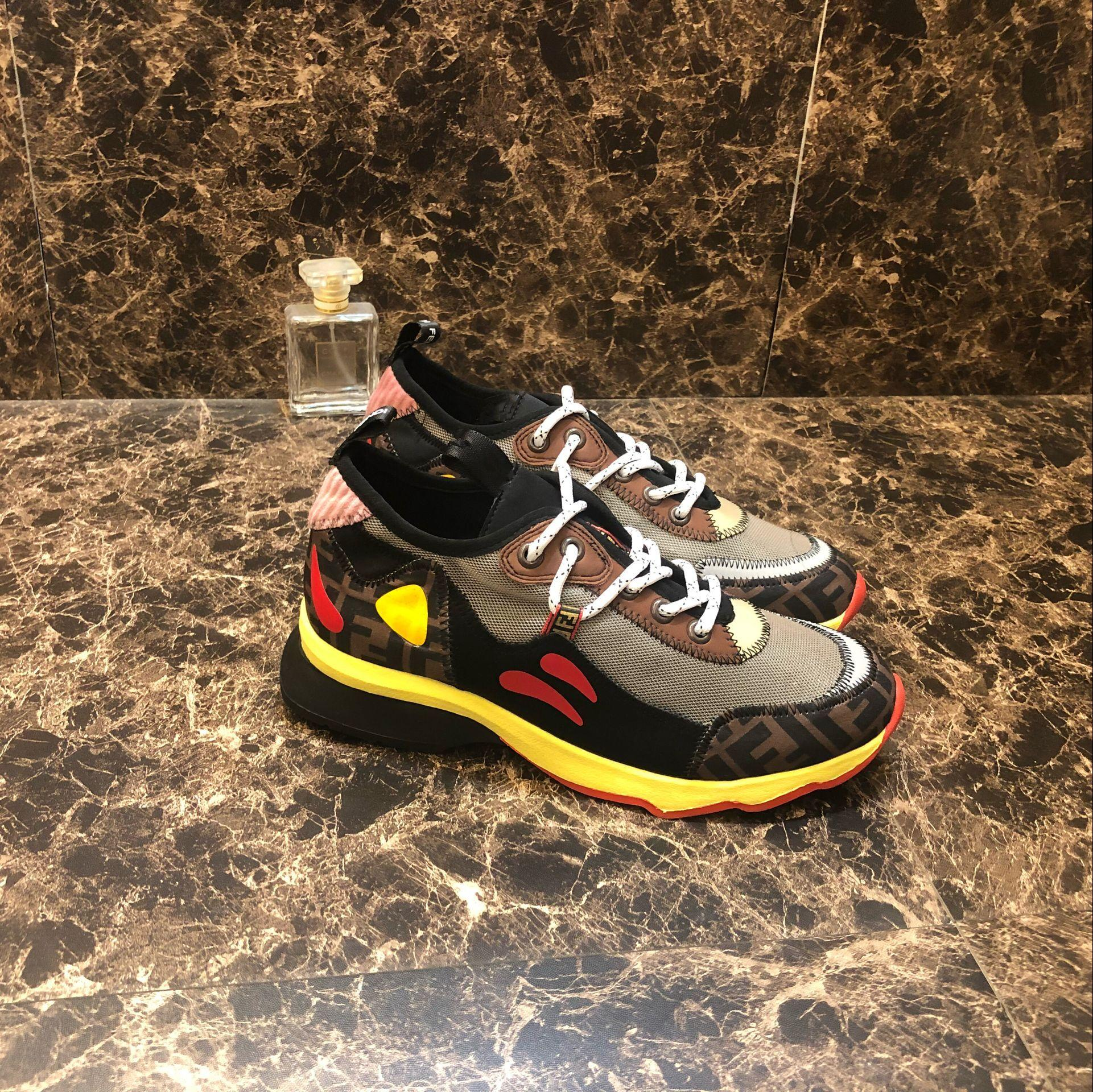 927bcd9cd932 ... Fendi Freedom FF Patchwork Sneakers Fendi sneakers in mesh