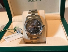 Rolex 126300 41MM STEEL Datejust Slate Index Dial Box/papers