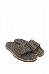 Fendi Men's Rubber Pool Slide Sandals w/ Raised Logo Detail TPU slide sandals