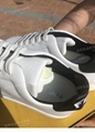Fendi Men's Shearling-Lined Leather Low-Top Sneakers women white leather shoes