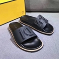 Fendi Rubber Slide Sandals w/ Raised