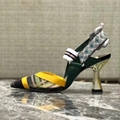 Fendi Colibri Mesh Trekking-Slingback Flats Pointed toe pumps colorblock mesh