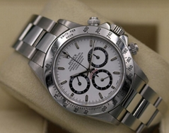 Rolex Daytona 16520 White Dial Zenith - A Serial SEL - Box & Papers!