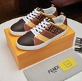 Fendi Men's Fendi Mania FF Leather Low-Top Sneakers women colorblock FF detail 9