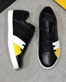 Fendi Men's Fendi Mania FF Leather Low-Top Sneakers women colorblock FF detail 12