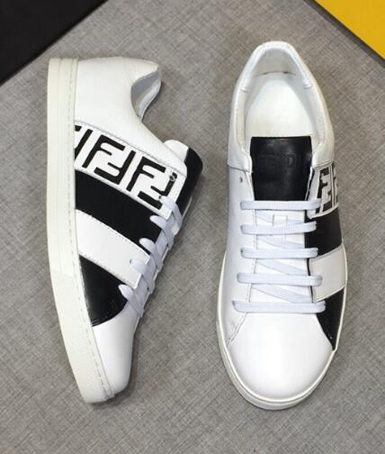 Fendi Men's Fendi Mania FF Leather Low-Top Sneakers women colorblock FF detail 13