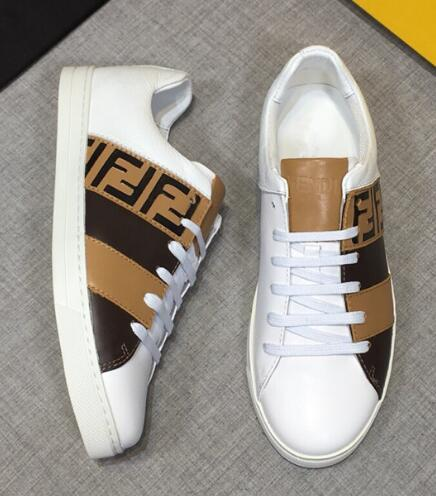 Fendi Men's Fendi Mania FF Leather Low-Top Sneakers women colorblock FF detail 14