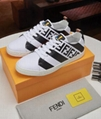 Fendi Men's Fendi Mania FF Leather Low-Top Sneakers women colorblock FF detail 15