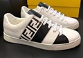 Fendi Men's Fendi Mania FF Leather Low-Top Sneakers women colorblock FF detail 16