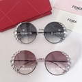 Round Metal Sunglasses w/ Pearly Trim Pearlescent bead trim at frame front