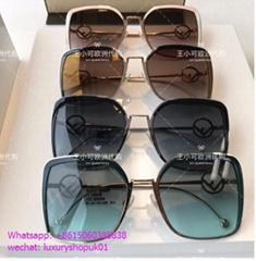 Fendi Metal Square Gradient Sunglasses