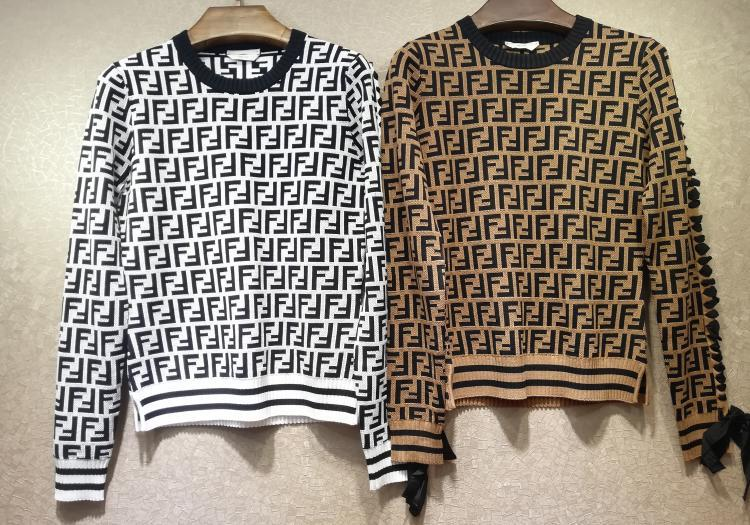 FENDI Intarsia cashmere turtleneck sweater FF turtleneck with ribbed trims cheap 6