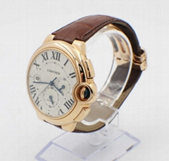 Cartier Ballon Blue 3107 W6920074 18K Rose Gold Chronograph Box and Papers