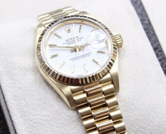 Rolex Ladies President Datejust 69178 White Dial 18K Yellow Gold