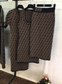 FENDI Stretch jacquard-knit dress FF woven flexible ribbed trims Sweater dress  5