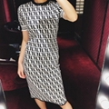 FENDI Stretch jacquard-knit dress