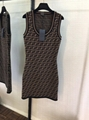 FENDI Stretch jacquard-knit dress FF woven flexible ribbed trims Sweater dress  14