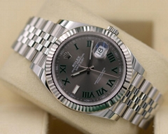 Rolex DateJust 41 126334 Slate Roman Dial Jubilee Stainless - 2018 Box & Papers!