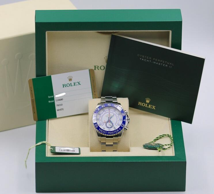 Rolex Yacht-Master II 116680 Stainless Steel Ceramic - 2016 Box & Papers