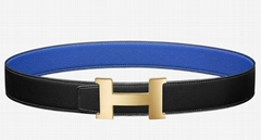 Hermes Constance buckle belt Men Reversible leather strap 38 mm