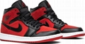 Nike Air Jordan 1 Mid 'Banned' Gym Red