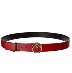 Fendi F Logo Reversible Leather Belt