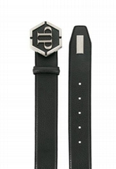 PHILIPP PLEIN logo buckle belt Men