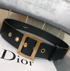 Dior DIORQUAKE BELT IN BLACK CALFSKIN Women waist buckle belts