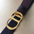 DIOR MEN BLACK AND BROWN CALFSKIN BELT