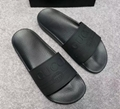 bab4d852451 New 2018 Gucci Black Rubber Slides Men s and women s slippers fashion  sandals ...